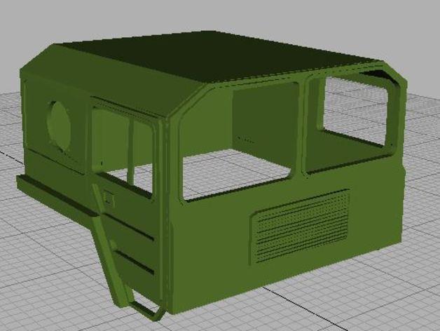 Carrosserie 3D Camion Man 6x6 8x8 Cabine pour Scale et Crawler 1/10 6x610