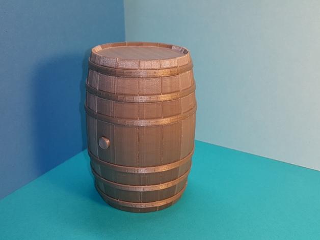 Tonneau 3D et Barrique 3D pour Scale et Crawler 1/10 7a10