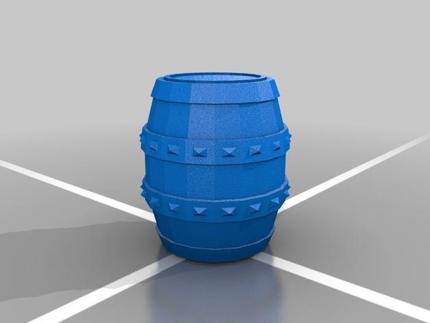 Tonneau 3D et Barrique 3D pour Scale et Crawler 1/10 8a10