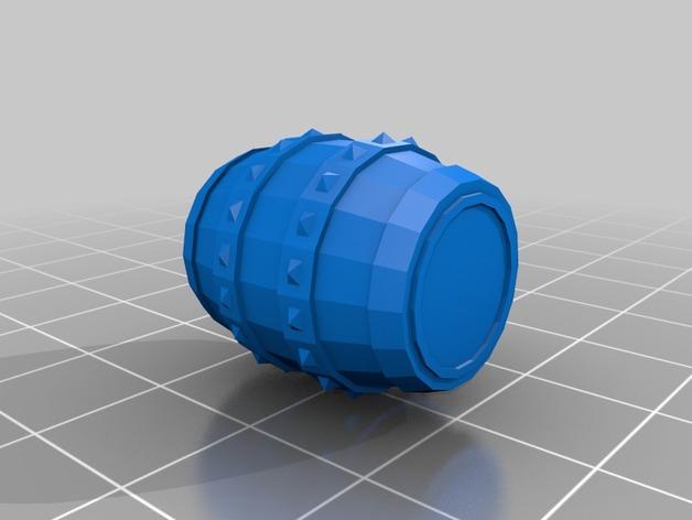 Tonneau 3D et Barrique 3D pour Scale et Crawler 1/10 8b10
