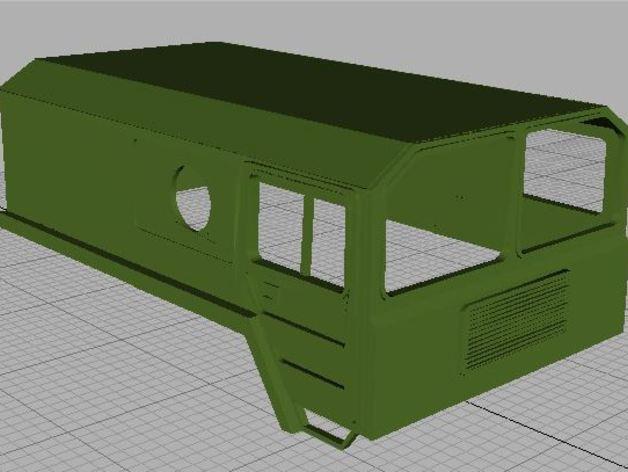 Carrosserie 3D Camion Man 6x6 8x8 Cabine pour Scale et Crawler 1/10 8x810
