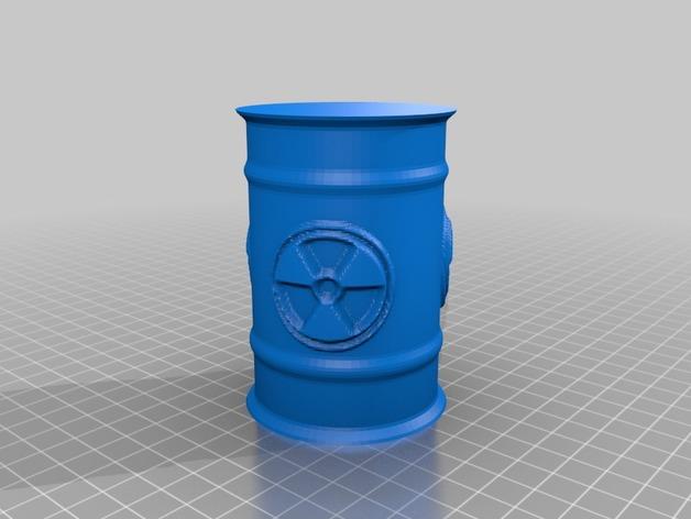 Tonneau 3D et Barrique 3D pour Scale et Crawler 1/10 9a10
