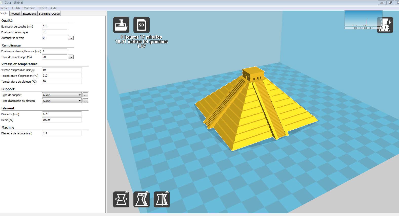 Anet A8 : Installation, Paramétrage et Configuration de mon Imprimante 3D Cura-110