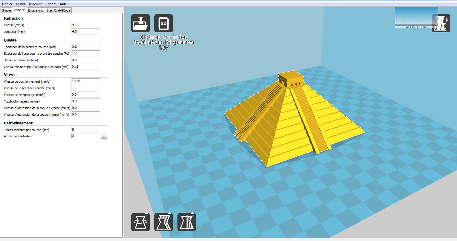 Anet A8 : Installation, Paramétrage et Configuration de mon Imprimante 3D Cura-210