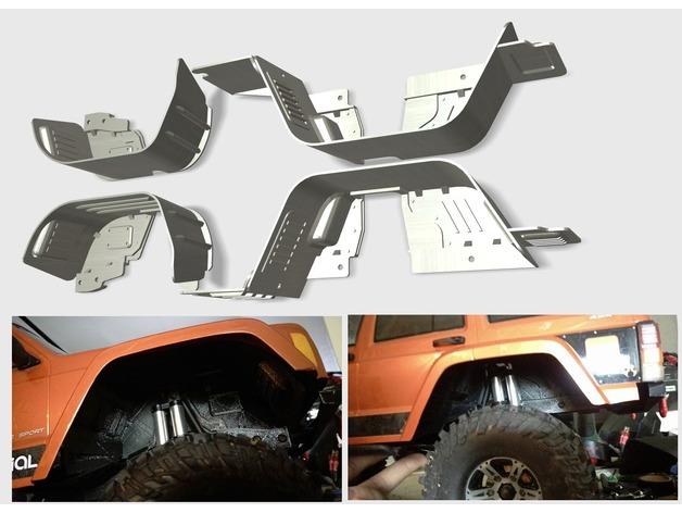 Garde boue 3D et de Passage de roue 3D pour Axial SCX10 II et Scx10 ancienne génération Garde-29
