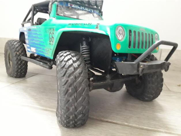 Garde boue 3D et de Passage de roue 3D pour Axial SCX10 II et Scx10 ancienne génération Garde-30