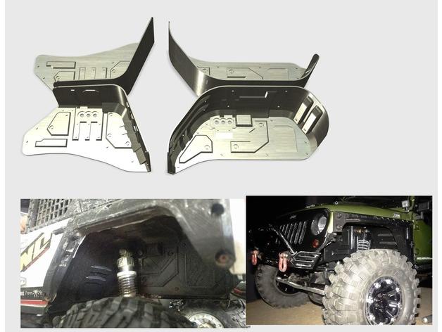 Garde boue 3D et de Passage de roue 3D pour Axial SCX10 II et Scx10 ancienne génération Image10