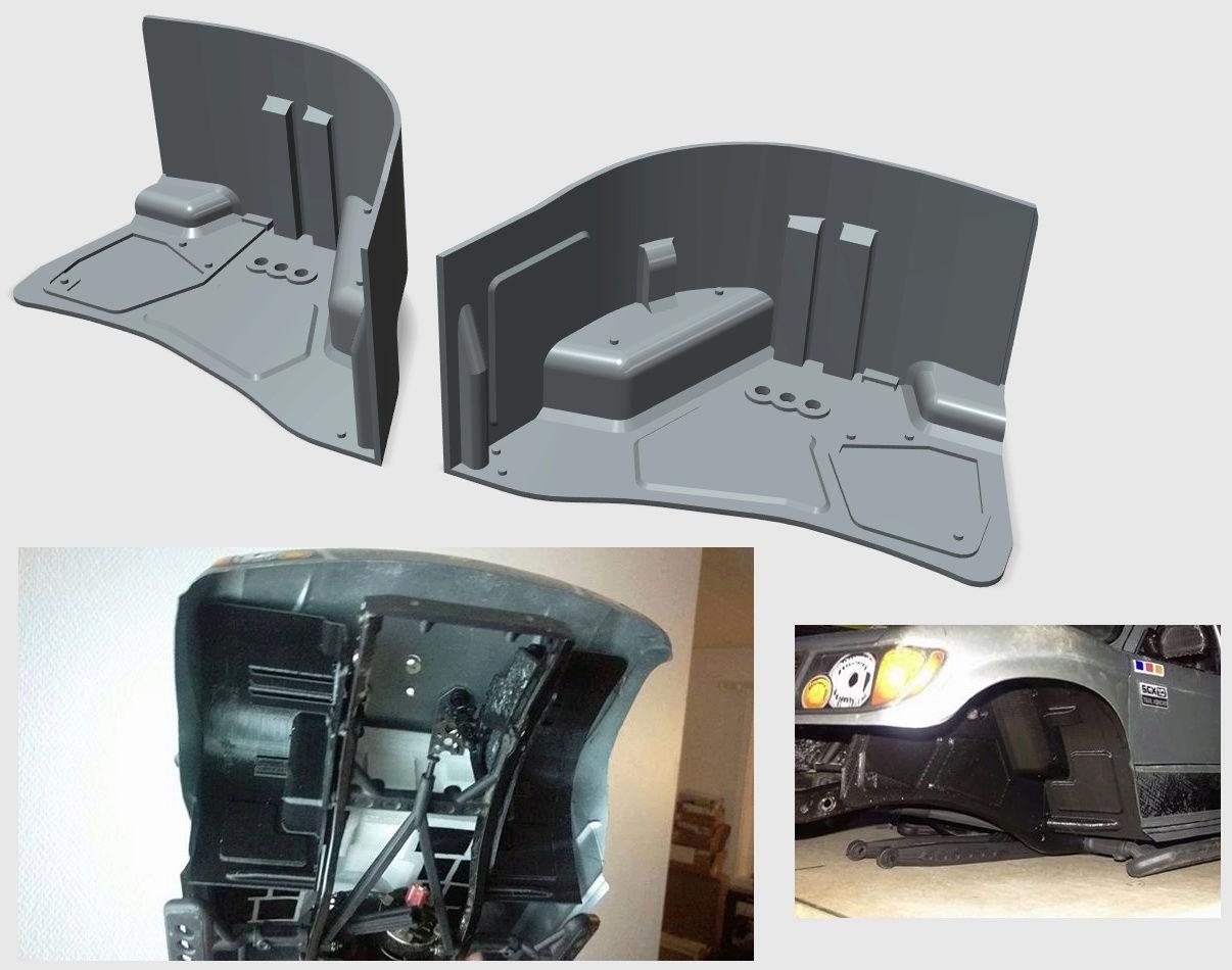 Garde boue 3D et de Passage de roue 3D pour Axial SCX10 II et Scx10 ancienne génération Image_10