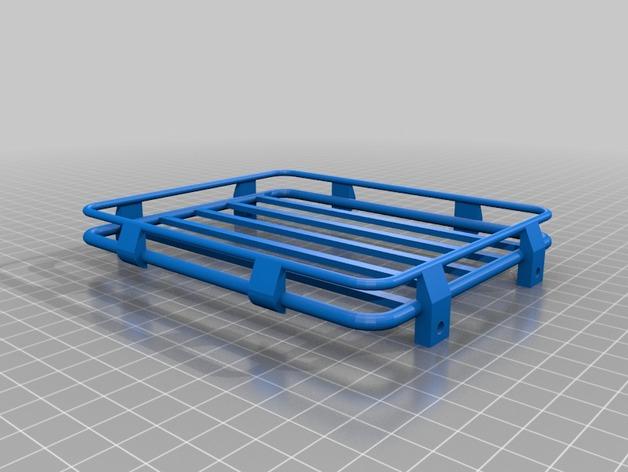 Galerie de toit 3D et Porte Bagage 3D pour Scale et Crawler 1/10 M10b10