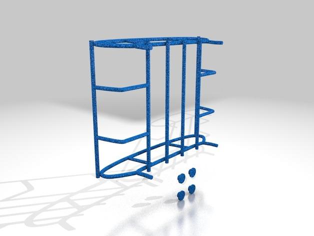 Galerie de toit 3D et Porte Bagage 3D pour Scale et Crawler 1/10 M11b11