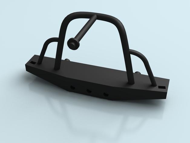 Parechoc 3D avec Attache Remorque 3D pour Scx10 et autres Scale et Crawler 1/10 M13a10