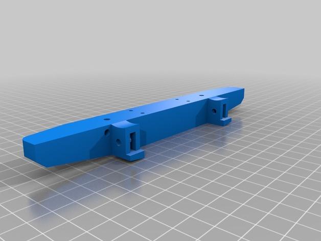 Parechoc 3D avec Attache Remorque 3D pour Scx10 et autres Scale et Crawler 1/10 M14c10