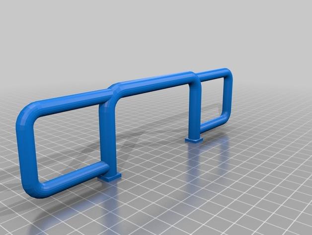 Parechoc 3D avec Attache Remorque 3D pour Scx10 et autres Scale et Crawler 1/10 M14d10