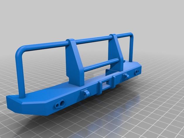 Parechoc 3D avec Attache Remorque 3D pour Scx10 et autres Scale et Crawler 1/10 M15a10