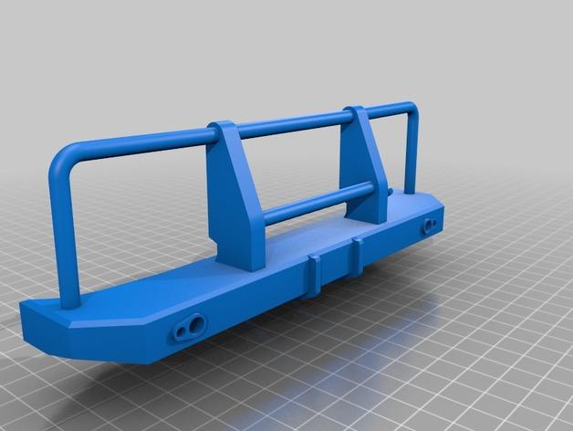 Parechoc 3D avec Attache Remorque 3D pour Scx10 et autres Scale et Crawler 1/10 M15b10