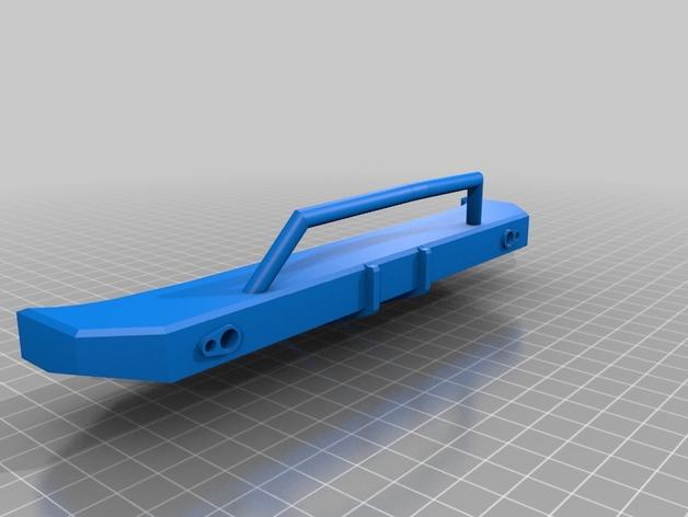 Parechoc 3D avec Attache Remorque 3D pour Scx10 et autres Scale et Crawler 1/10 M15c10