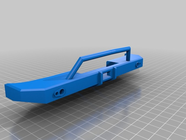 Parechoc 3D avec Attache Remorque 3D pour Scx10 et autres Scale et Crawler 1/10 M15d10