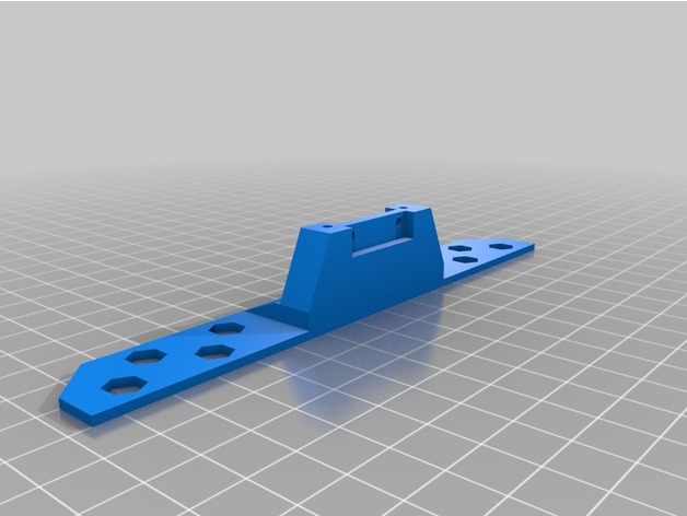 Parechoc 3D avec Attache Remorque 3D pour Scx10 et autres Scale et Crawler 1/10 M16a10