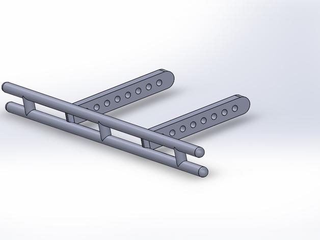 Parechoc 3D avec Attache Remorque 3D pour Scx10 et autres Scale et Crawler 1/10 M1a10
