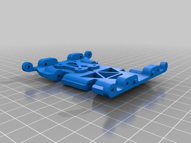 Skid 3D ou Support Transmission 3D pour SX10 et autre Scale et Crawler 1/10 M1a15