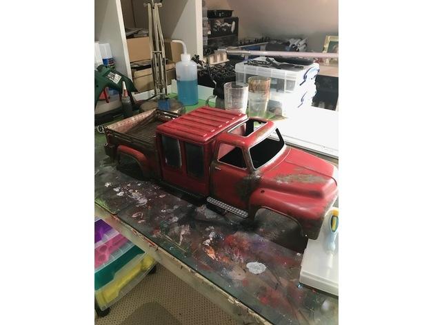 Cabine à Outil de Pompier 3D pour Scale et Crawler 1/10 M1a18