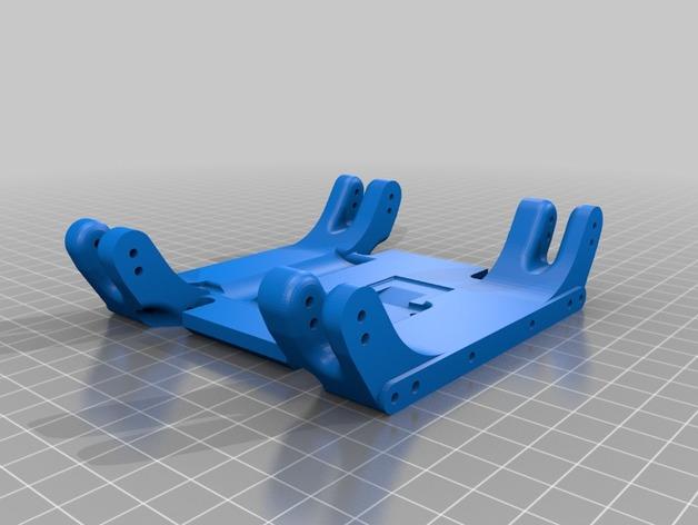 Skid 3D ou Support Transmission 3D pour SX10 et autre Scale et Crawler 1/10 M1a19