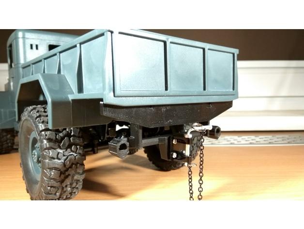 Parechoc 3D avec Attache Remorque 3D pour Scx10 et autres Scale et Crawler 1/10 M1a20