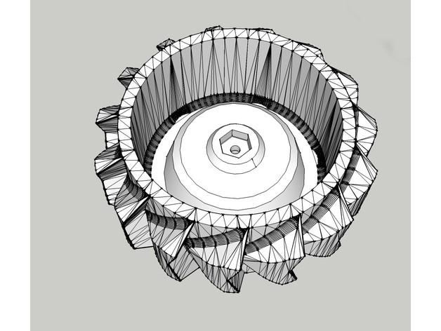 Pneu Neige avec Jante 3D pour Scale et Crawler 1/10 M1a30