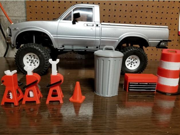 Poubelle 3D pour Scale et Crawler 1/10 M1a32