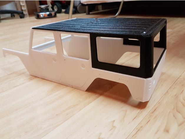 Carrosserie 3D Jeep Rubicon 4x4 pour Scale et Crawler 1/10 M1a33