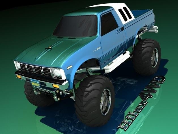 Carrosserie 3D Toyota Hilux 4x4 pour Scx10 et tout Scale et Crawler 1/10 M1a35