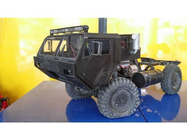 Carrosserie 3D Camion Oshkosh HEMTT 4x4 6x6 8x8 pour Scx10 et tout Scale et Crawler 1/10 M1a36