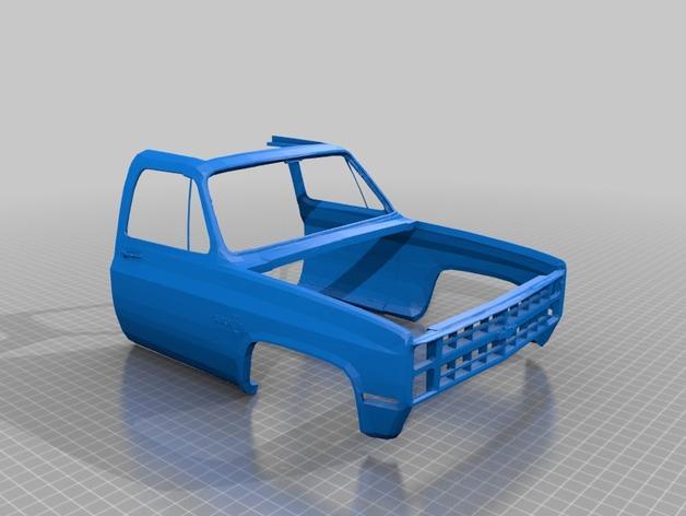 Carrosserie 3D Chevrolet Silverado 4x4 pour Scx10 et tout Scale et Crawler 1/10 M1a42