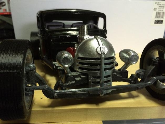 Carrosserie 3D Hotrod Pickup pour Scx10 MST CMX et tout Scale et Crawler 1/10 M1a48