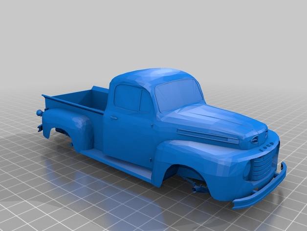 Carrosserie 3D Ford F-1 1949 4x4 pour Scx10 et tout Scale et Crawler 1/10 M1a54