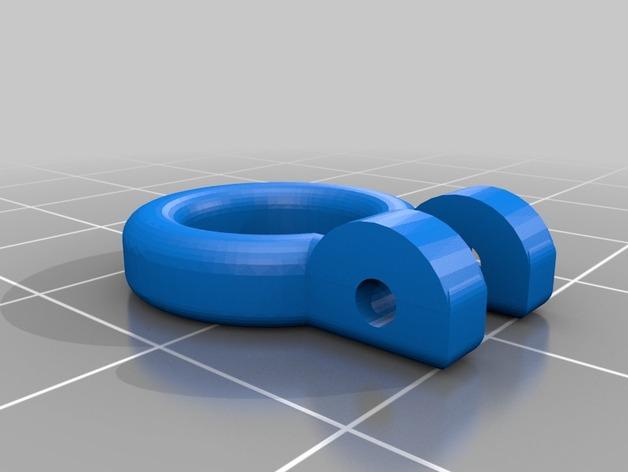 Crochet Remorquage 3D pour Scale et Crawler 1/10 M1a56