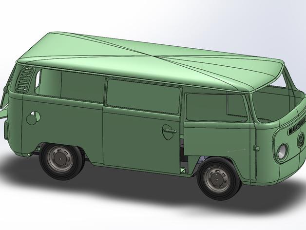 Carrosserie 3D Volkswagen Kleinbus Type 2 pour scale et crawler 1/10 M1a61