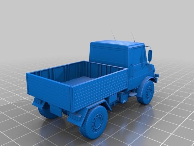 Carrosserie 3D Unimog 1300L PickUp pour scale et crawler 1/10 M1a63