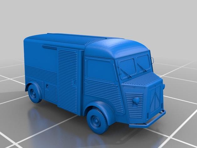 Carrosserie 3D Fourgonnette Citroen HY Type H pour scale et crawler 1/10 M1a64