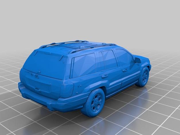 Carrosserie 3D Jeep Grand Cherokee 2000 4x4 pour scale et crawler 1/10 M1a65