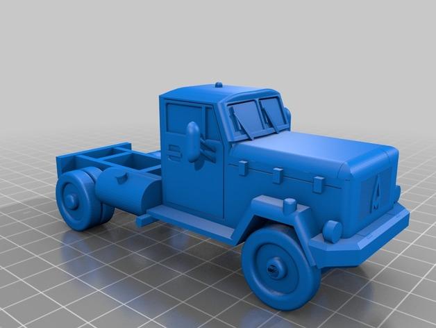 Carrosserie 3D Camion Magirus Deutz 1967 pour scale et crawler 1/10 M1a67