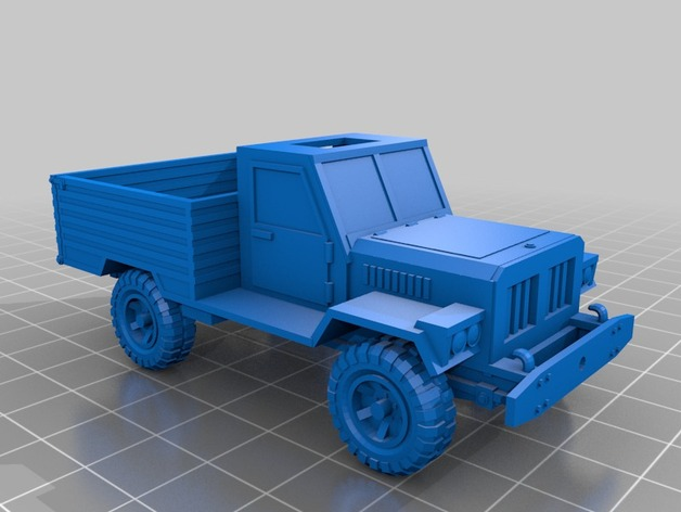 Carrosserie 3D Pickup chassis type W3 4x4 pour scale et crawler 1/10 M1a69