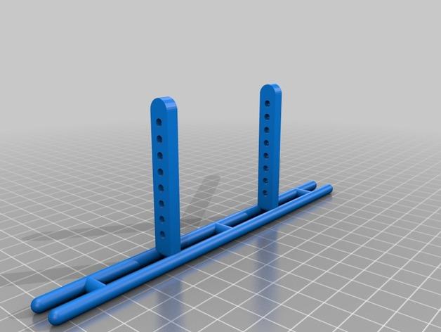Parechoc 3D avec Attache Remorque 3D pour Scx10 et autres Scale et Crawler 1/10 M1b10