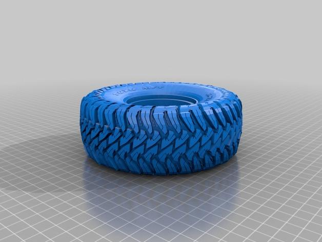 Pneu 2.2 en 3D et Jante Beadlock 2.2 en 3D pour Scale et Crawler 1/10 M1b18