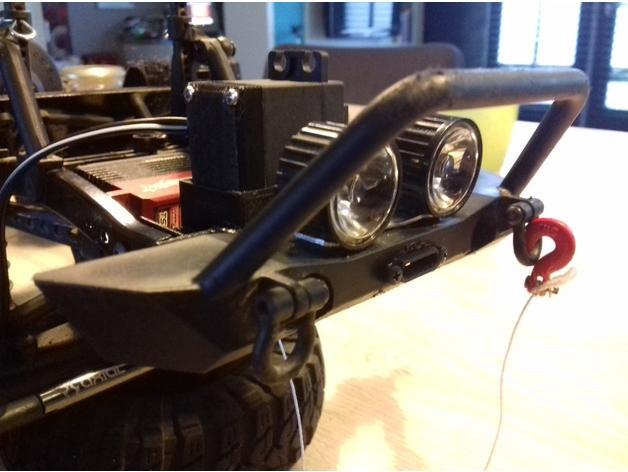 Sortie de Câble de Treuil de Parechoc 3D pour Scale et Crawler 1/10 M1b20
