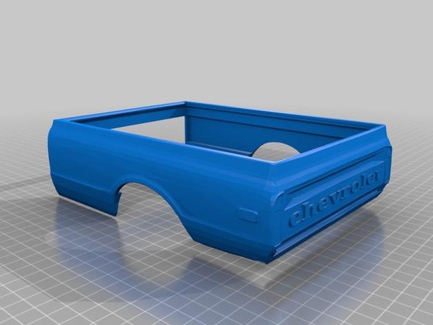 Carrosserie 3D Chevrolet Chevy 1972 K10 4x4 pour Scale et Crawler 1/10 M1b22