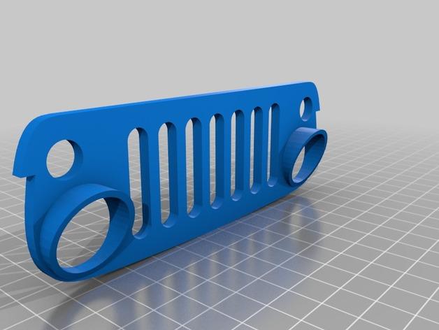 Carrosserie 3D Jeep Rubicon 4x4 pour Scale et Crawler 1/10 M1b26