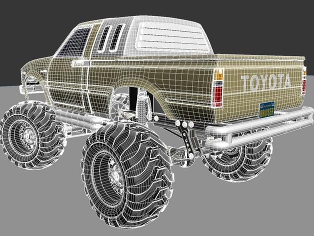 Carrosserie 3D Toyota Hilux 4x4 pour Scx10 et tout Scale et Crawler 1/10 M1b28