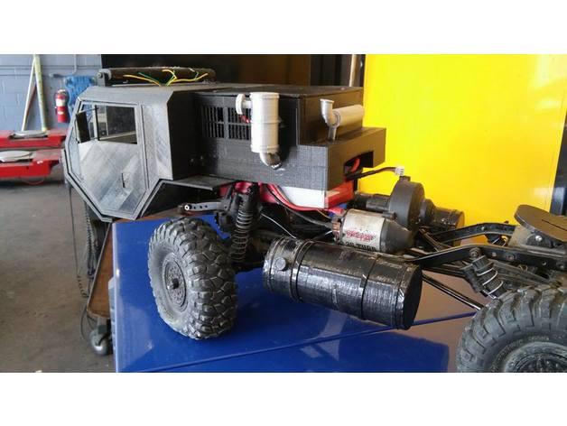 Carrosserie 3D Camion Oshkosh HEMTT 4x4 6x6 8x8 pour Scx10 et tout Scale et Crawler 1/10 M1b29
