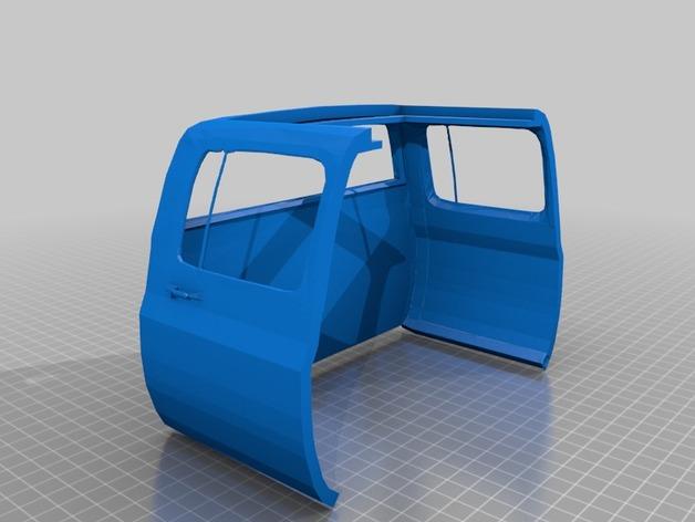 Carrosserie 3D Chevrolet Silverado 4x4 pour Scx10 et tout Scale et Crawler 1/10 M1b35